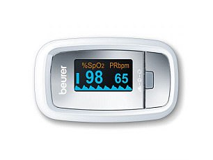 This is a pulse oximeter that can be used to monitor patients by measuring the amount of oxygen in the blood
